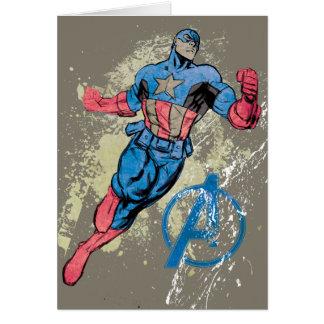 Captain America Avenger Grunge Graphic Card