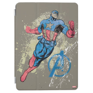 Captain America Avenger Grunge Graphic iPad Air Cover