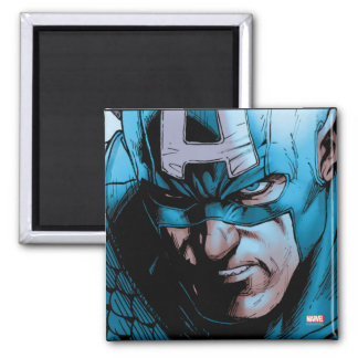 Captain America Avengers Comic Panel Square Magnet