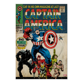 Captain America Comic #100 Poster