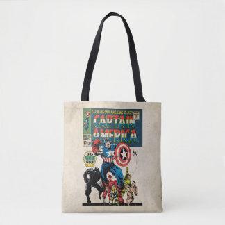 Captain America Comic #100 Tote Bag