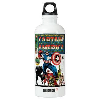 Captain America Comic #100 Water Bottle