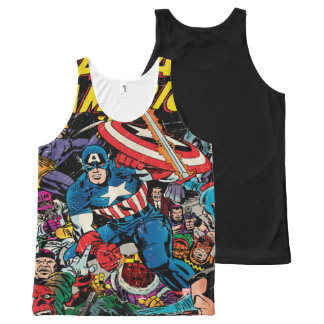 Captain America Comic #112 All-Over-Print Tank Top