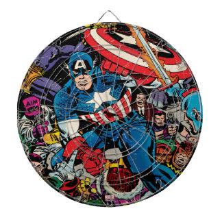 Captain America Comic #112 Dart Board