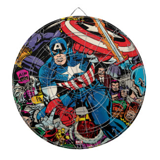 Captain America Comic #112 Dartboard