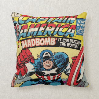 Captain America Comic #193 Throw Pillow