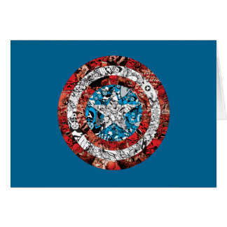 Captain America Comic Patterned Shield Card