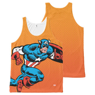 Captain America Dash All-Over-Print Tank Top