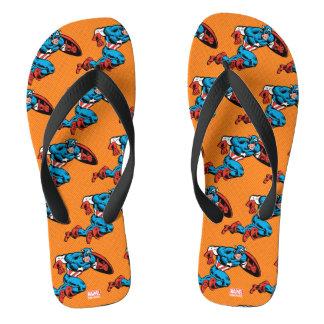 Captain America Dash Flip Flops