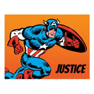 Captain America Dash Postcard