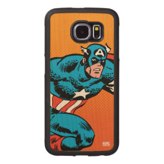 Captain America Dash Wood Phone Case