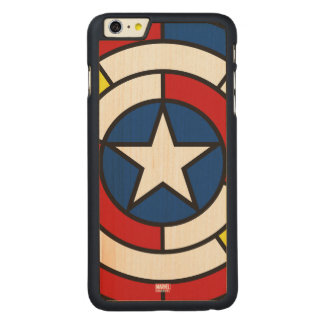 Captain America De Stijl Abstract Shield Carved® Maple iPhone 6 Plus Case