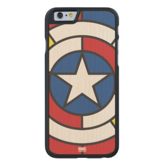 Captain America De Stijl Abstract Shield Carved® Maple iPhone 6 Slim Case