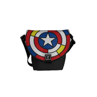 Captain America De Stijl Abstract Shield Commuter Bags