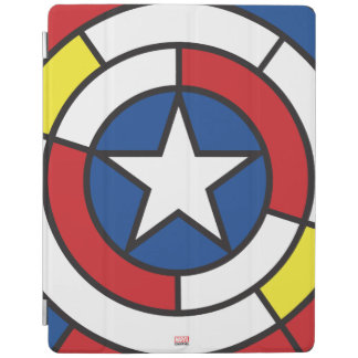 Captain America De Stijl Abstract Shield iPad Cover