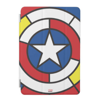 Captain America De Stijl Abstract Shield iPad Mini Cover