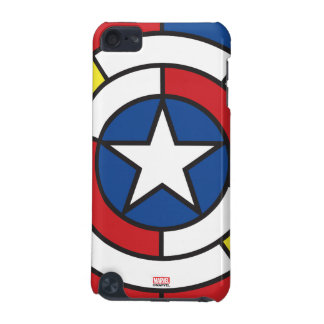 Captain America De Stijl Abstract Shield iPod Touch (5th Generation) Covers