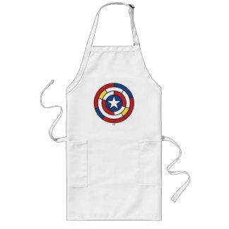 Captain America De Stijl Abstract Shield Long Apron