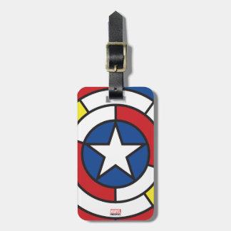Captain America De Stijl Abstract Shield Luggage Tag