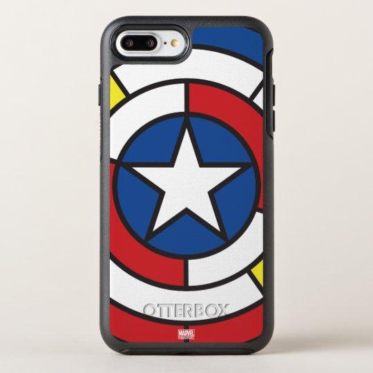 Captain America De Stijl Abstract Shield OtterBox Symmetry iPhone 8 Plus/7 Plus Case