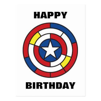 Captain America De Stijl Abstract Shield Postcard