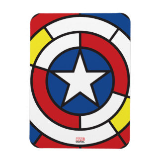 Captain America De Stijl Abstract Shield Rectangular Photo Magnet