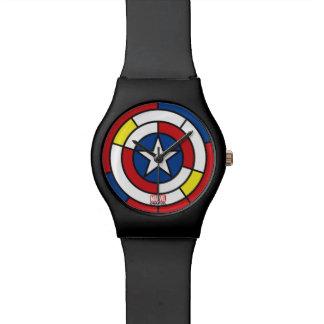 Captain America De Stijl Abstract Shield Watches