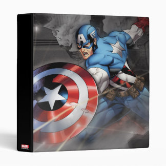 Captain America Deflecting Attack Binders