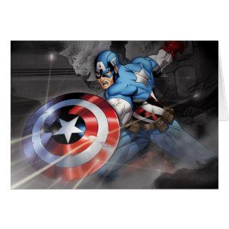Captain America Deflecting Attack Card