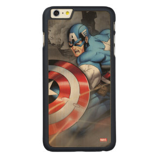 Captain America Deflecting Attack Carved® Maple iPhone 6 Plus Case