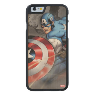 Captain America Deflecting Attack Carved® Maple iPhone 6 Slim Case