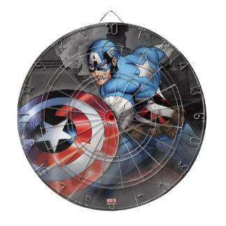 Captain America Deflecting Attack Dart Boards