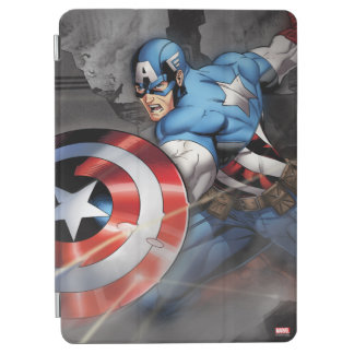 Captain America Deflecting Attack iPad Air Cover