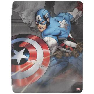 Captain America Deflecting Attack iPad Cover