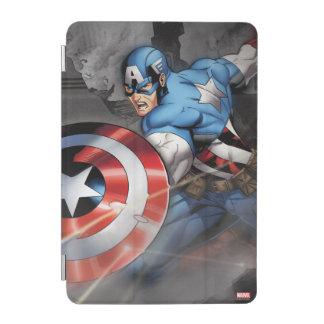 Captain America Deflecting Attack iPad Mini Cover
