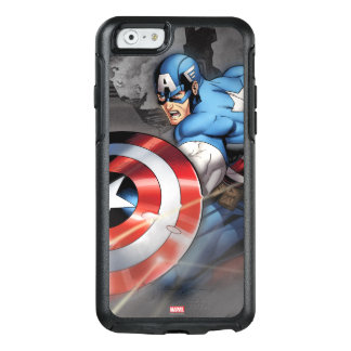 Captain America Deflecting Attack OtterBox iPhone 6/6s Case