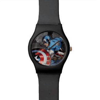 Captain America Deflecting Attack Wrist Watch