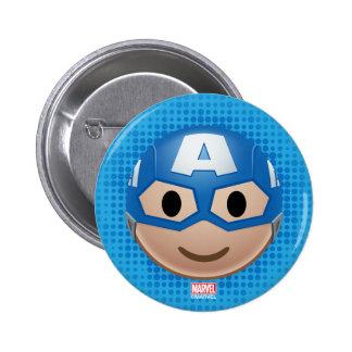 Captain America Emoji 2 Inch Round Button