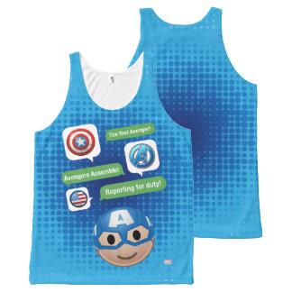 Captain America Emoji All-Over-Print Tank Top