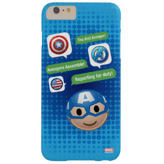 Captain America Emoji Barely There iPhone 6 Plus Case