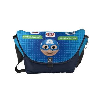 Captain America Emoji Courier Bag