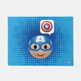 Captain America Emoji Doormat