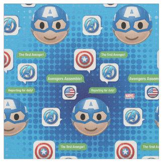 Captain America Emoji Fabric