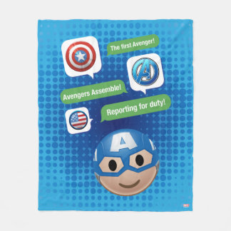 Captain America Emoji Fleece Blanket