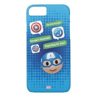 Captain America Emoji iPhone 7 Case