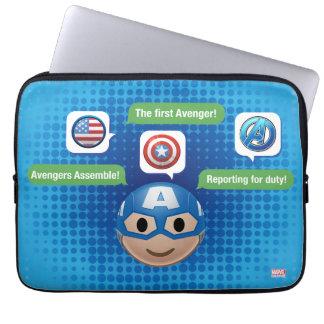 Captain America Emoji Laptop Sleeve
