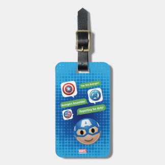 Captain America Emoji Luggage Tag