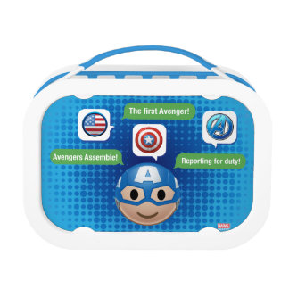 Captain America Emoji Lunch Box
