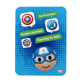 Captain America Emoji Rectangular Photo Magnet