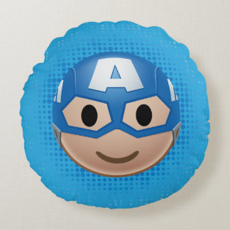 Captain America Emoji Round Pillow